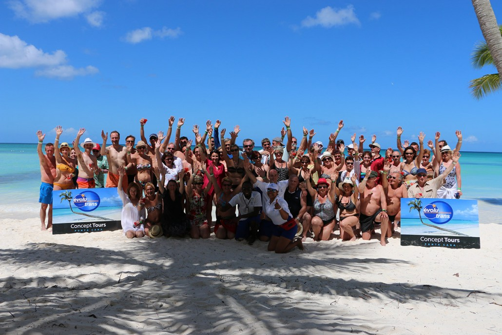 Group de touriste punta cana